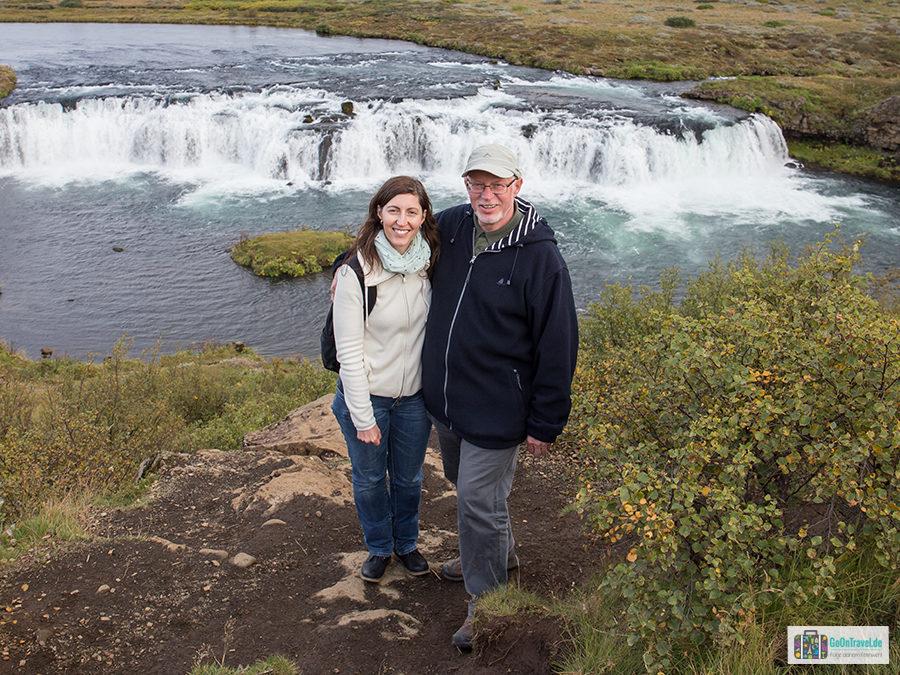 Anja mit ihrem Papa in Island