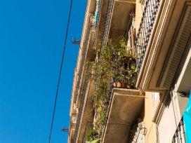 Barcelona gotisches Viertel Balkonpflanzen