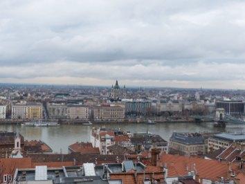 Budapest Ausblick vom Buda Berg