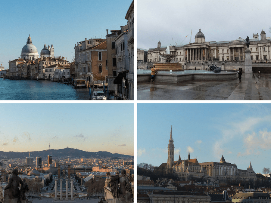 Cityhopping: Venedig, London, Barcelona, Budapest