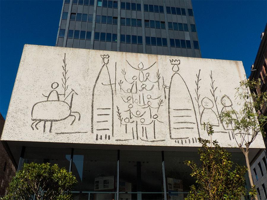 Kunst von Picasso am Collegi d'Arquitectes de Catalunya