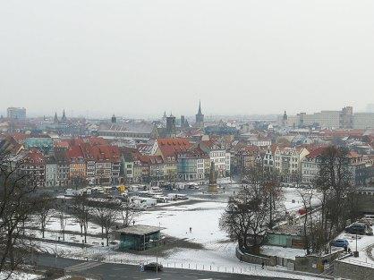 Aussicht von der Zitadelle von Erfurt