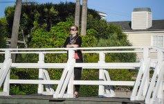 Anna immer unterwegs bei den Venice Beach Canals