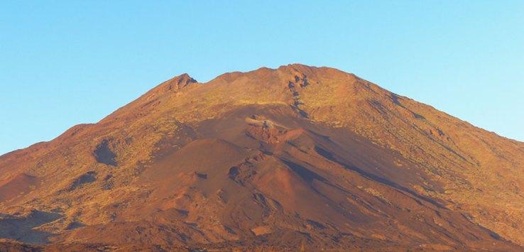 Teide Nationalpark Krater im Sonnenuntergang