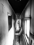 Taking shelter in an abandoned train