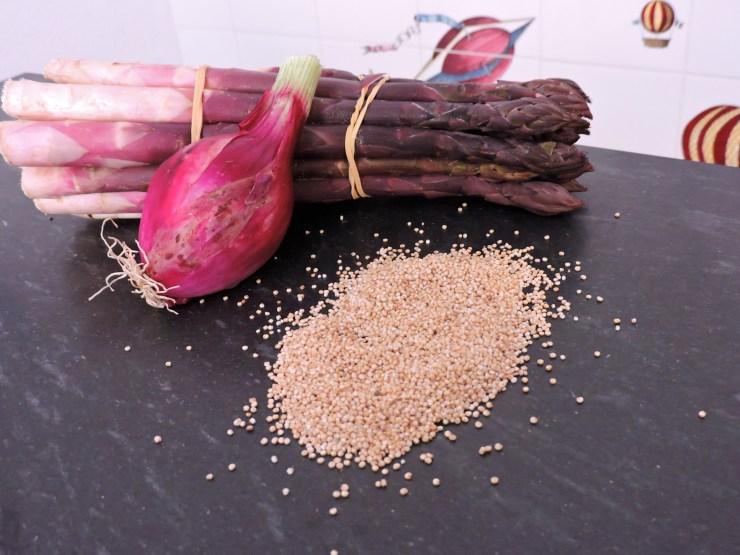 quinotto di asparagi : ingredienti base