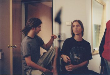 Josh and Graham in the studio in 2004