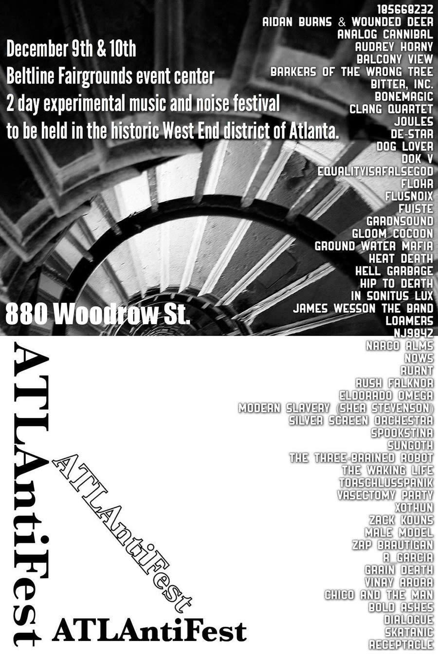 ATLAntiFest Flyer