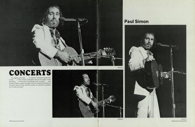 Paul Simon at GSU 1974