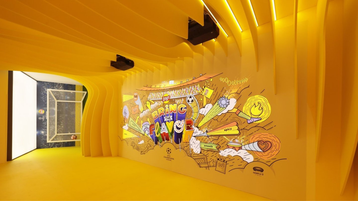 Pepsi Lays experiential installation by Immersive AV