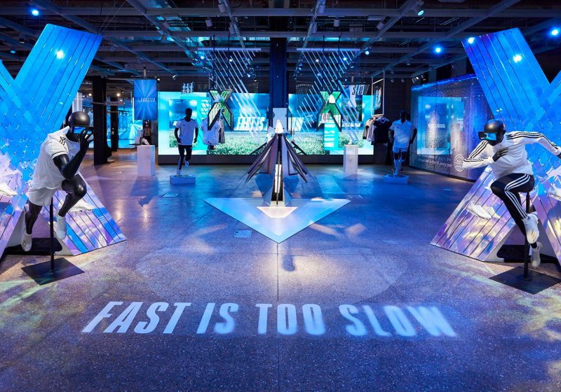 Experiential retail installation for Adidas by Immersive AV