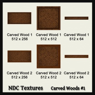 Carved Wood #1  Texture Pack by NDC Textures