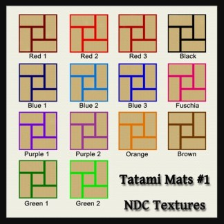 Tatami Mats #1 Texture Pack by NDC Textures