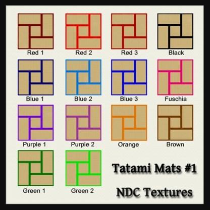 Tatami Mats #1 Contact Sheet