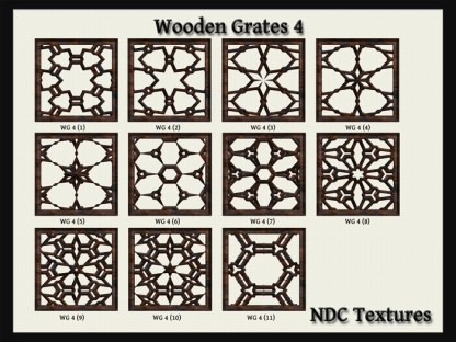 Wooden Grates #4 Texture Pack by NDC Textures