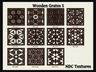 Wooden Grates #5 Texture Pack by NDC Textures