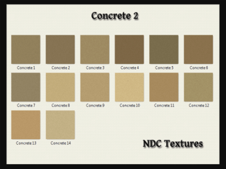 [Immersive Digital] NDC-T037 Concrete 2 Texture Pack Contact Sheet