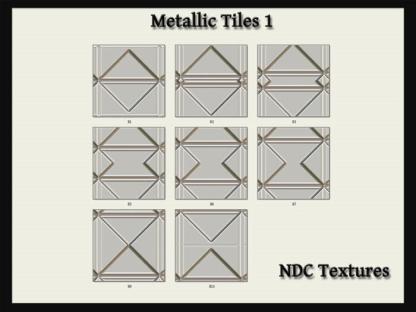 Metallic Tiles 1 Texture Pack by NDC Textures