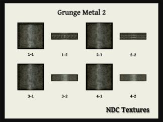 NDC Textures Contact Sheet Grunge Metal 2