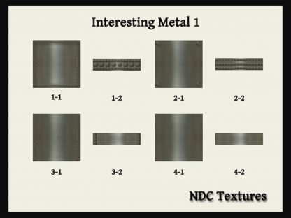 Interesting Metal 1 Texture Pack by NDC Textures
