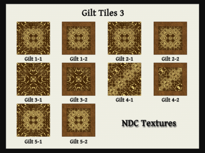 [Immersive Digital] NDC Textures Gilt Tiles 3 Contact Sheet