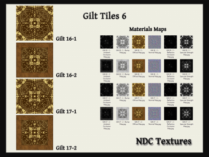 Gilt Tiles 6 Texture and Materials Pack by NDC Textures