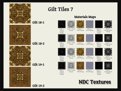 Gilt Tiles 7 Texture and Materials Pack by NDC Textures