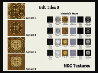 Gilt Tiles 8 Texture and Materials Pack by NDC Textures