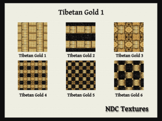 [Immersive Digital] NDC Textures Tibetan Gold 1 Contact Sheet