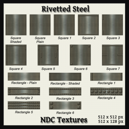 Rivetted Steel Texture Pack by NDC Textures