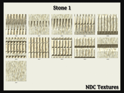 [Immersive Digital] NDC-T064 Stone 1 Texture Pack Contact Sheet