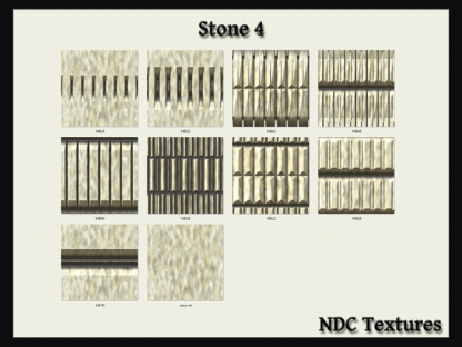 [Immersive Digital] NDC-T067 Stone 4 Texture Pack Contact Sheet