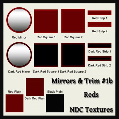 [Immersive Digital] NDC-T014 Mirrors & Trim #1b Reds Contact Sheet