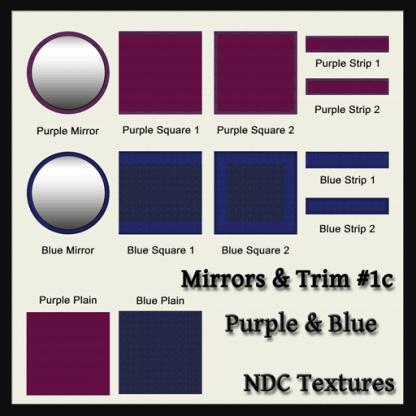 [Immersive Digital] NDC-T015 Mirrors & Trim #1c Purple & Blue Contact Sheet