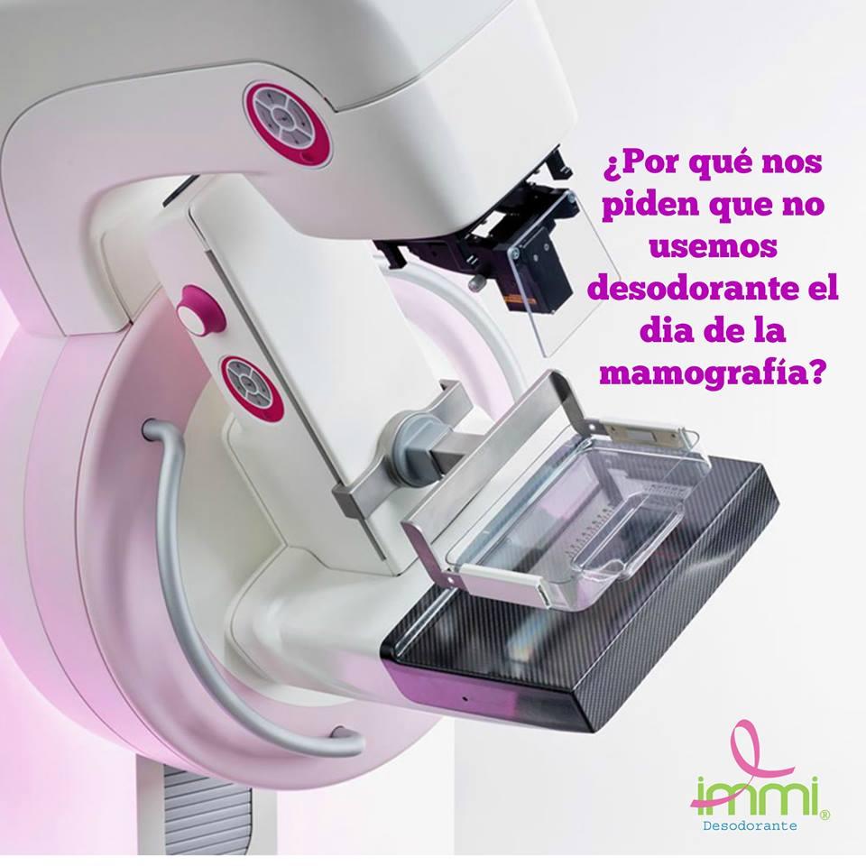 En este momento estás viendo Desodorante y mamografía