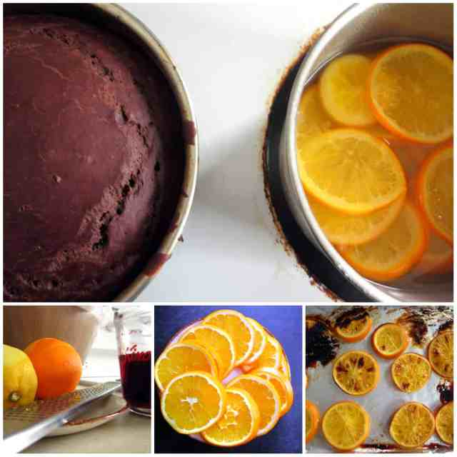 vegan chocolate orange cake prep