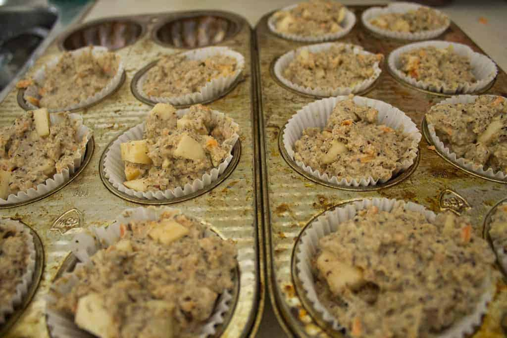 Morning glory muffins unbaked