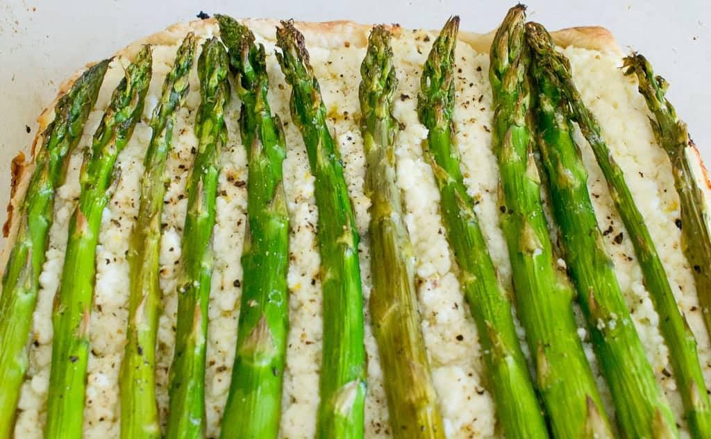 asparagus and ricotta tart asparagus spears