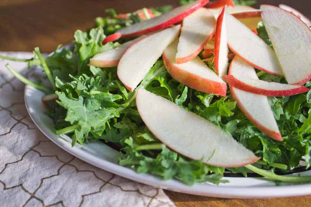 Apple and greens salad right