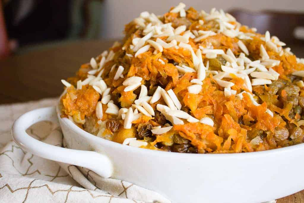 vegetarian rice plov, the perfect dish for a year of plenty