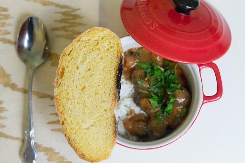 Hearty tomato mushroom stew 6