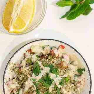 Israeli chopped salad for one and the Friday link round-up