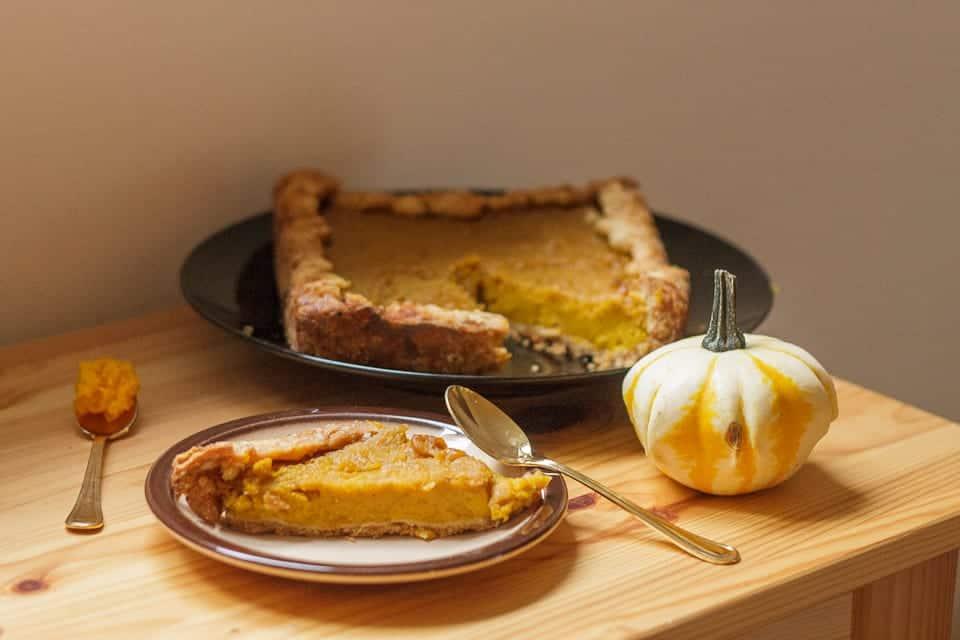 Vegan Hubbard squash pie