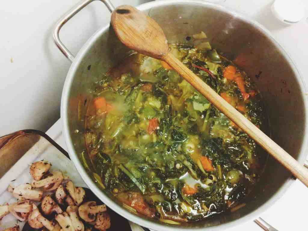 Gumbo Z'Herbes from a Jewish Southern dinner