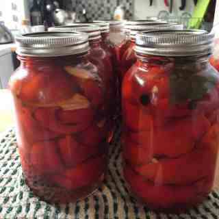 Canning dangers_Marinated peppers
