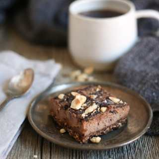 Chocolate hazelnut bars (GF, v, paleo), or a tale of two Passovers