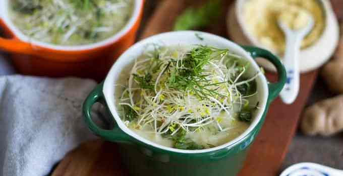 Salt-free potato leek soup with mustard for those days when…