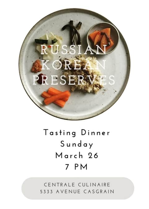 Russian Korean Preserves Dinner