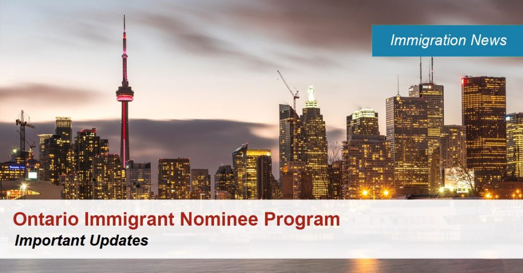 Ontario Immigrant Nominee Program