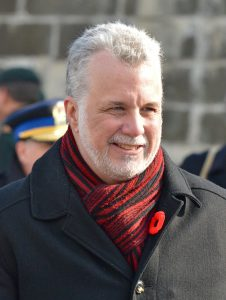 Quebec Premier Philippe Couillard in passing Bill 62